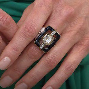 """Heidi Daus """"MOD REVIVAL"""" Crystal Enamel Ring 6"""